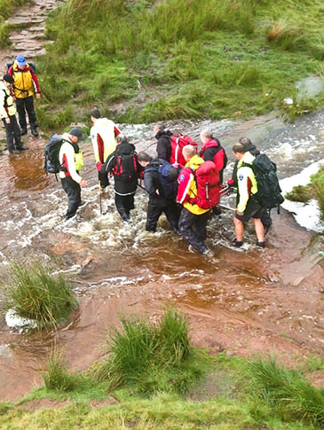 Rescuers said conditions on the mountain were atrocious. Photo: Brecon MRT