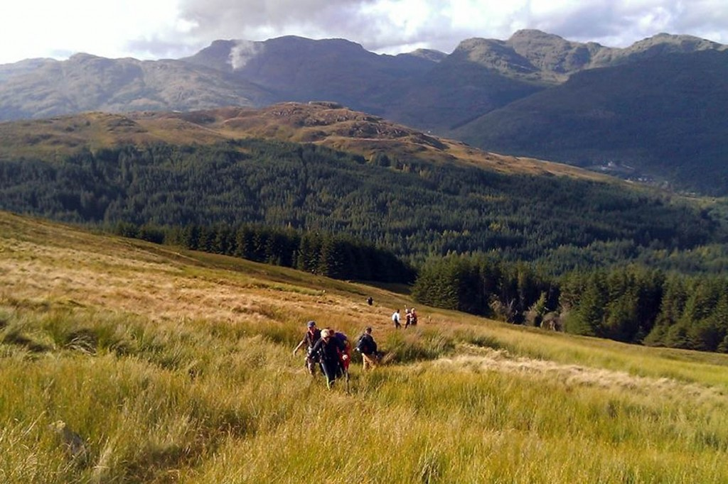 Walkers on the Cowal Way. Photo: SNH