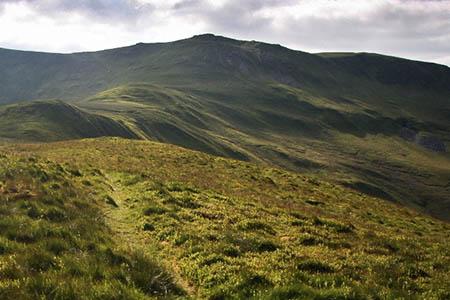 The high Berwyn: Craig Berwyn, left, and Cadair Berwyn. Photo: Myrddyn Phillips