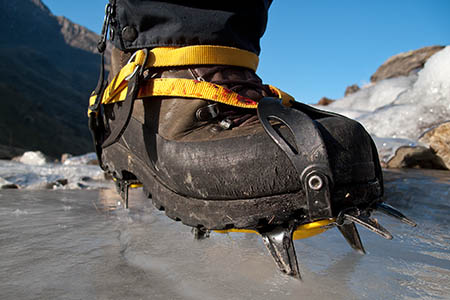Crampons are essential on Snowdon and the national park's other high peaks. Photo: Snowdonia NPA