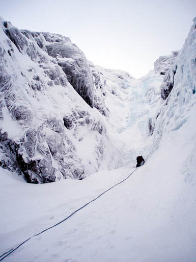 Climbing on Creag Meagaidh. Photo: Low Cloud CC-BY-2.0