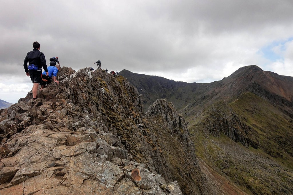 Crib Goch, with Snowdon in the distance. Photo: rockabilly_girl CC-BY-2.0