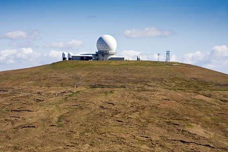 The NATS radar station on Great Dun Fell
