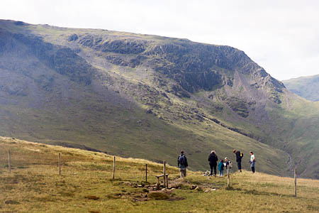 The Coast to Coast walkers were found on the route below Brandreth