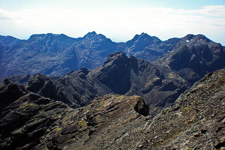 A member of the public reported seeing a man fall on the Cuillin mountains. Photo: Martin Ayre CC-BY-SA-2.0
