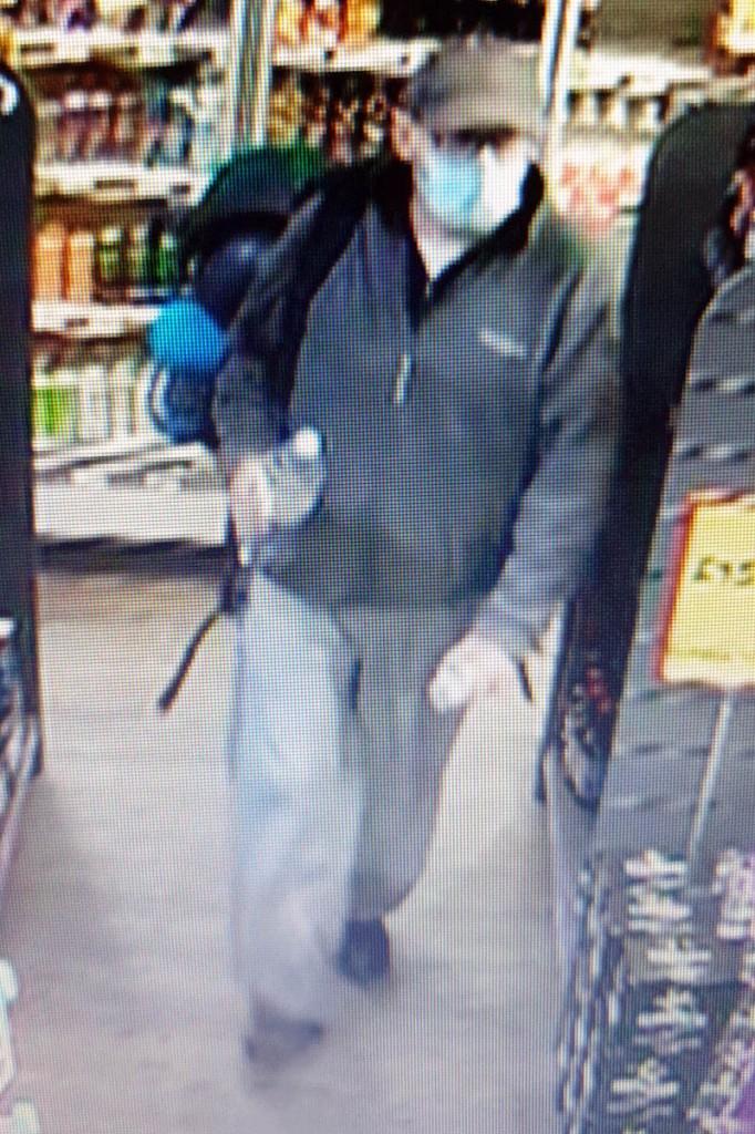 A CCTV image of Mr Cargill
