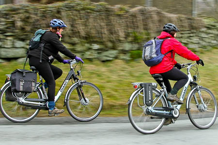 The electric bikes would ease the pain of getting up the Dales hills