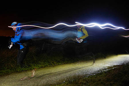 Marmot Dark Mountain 2014 winners Steve Birkinshaw and Tom Gibbs setting off from the start. Photo: Ian Corless
