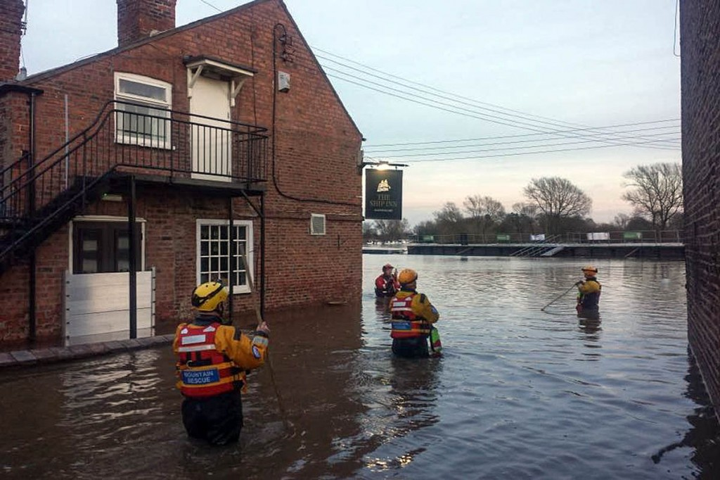 Ashburton team members in action in the 2015 York floods. Photo: Dartmoor Search and Rescue Ashburton
