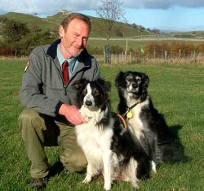 David Watt with his dogs