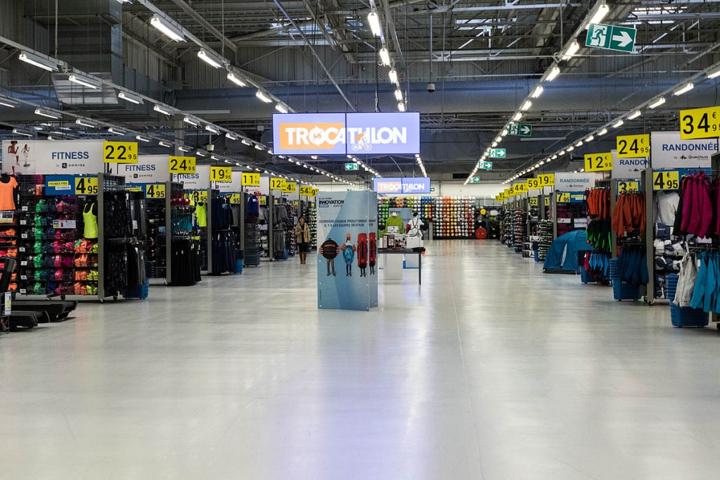 The Campus megastore has wide aisles and oceans of space