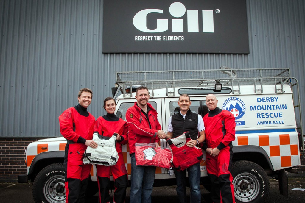 Derby MRT members receive the kit from Gill