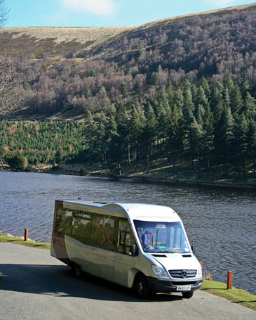 The bus at Howden Reservoir