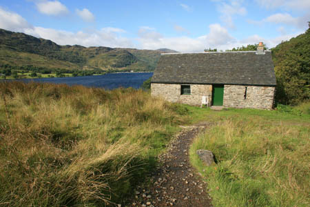 A bothy in the Scottish Highlands