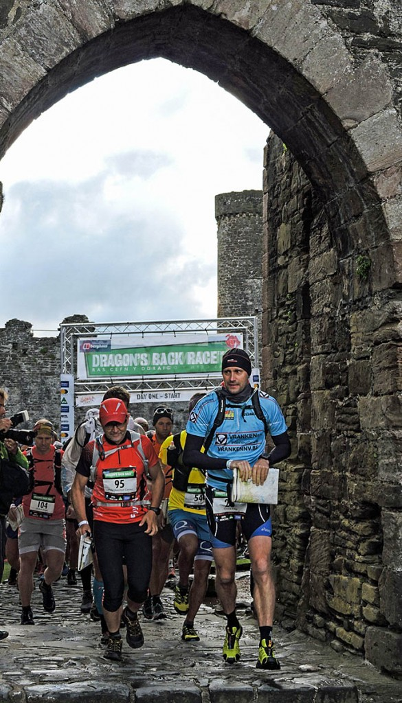 The race gets underway at Conwy Castle