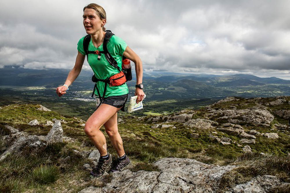 Jasmin Paris in action during last year's Dragon's Back Race. Photo: ©iancorless.com