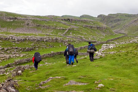 Participants in the Duke of Edinburgh's Award undergoing a supervised expedition