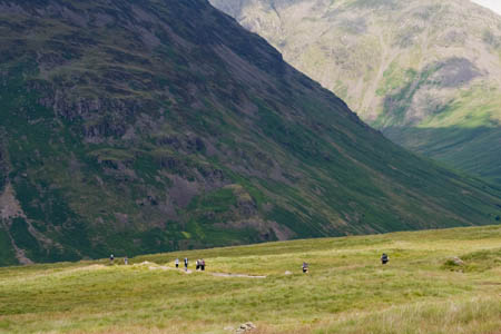 A DofE team approaches Wasdale during its expedition