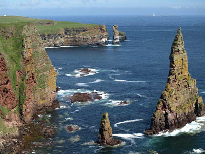 Duncansby Head, end point of Peter Wright's walk. Photo: Eleanor Miller CC-BY-SA-2.0
