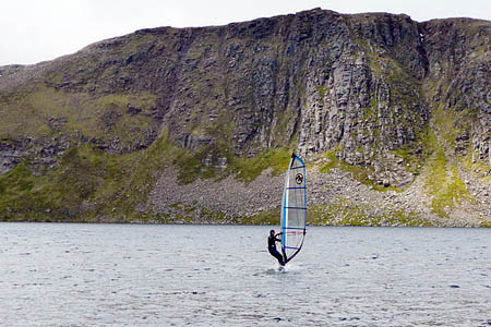 Windsurfing on Loch Etchachan