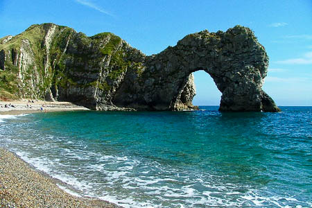 The first section of the England Coast Path also includes prime climbing sites such as Durdle Door. Photo: Gwyn Jones CC-BY-SA-2.0