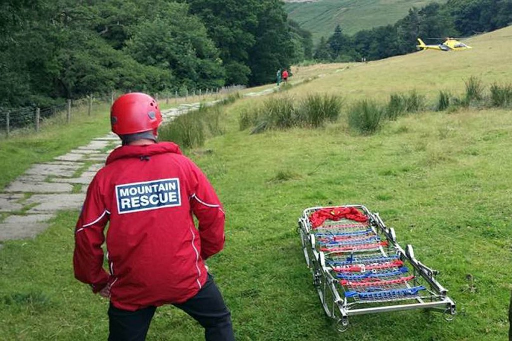Edale Mountain Rescue Team members were called out twice on Wednesday. Photo: Edale MRT