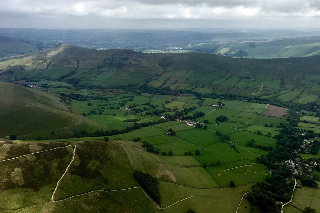 The woman was rescued from the site below Ringing Roger above Edale. Photo: Edale MRT