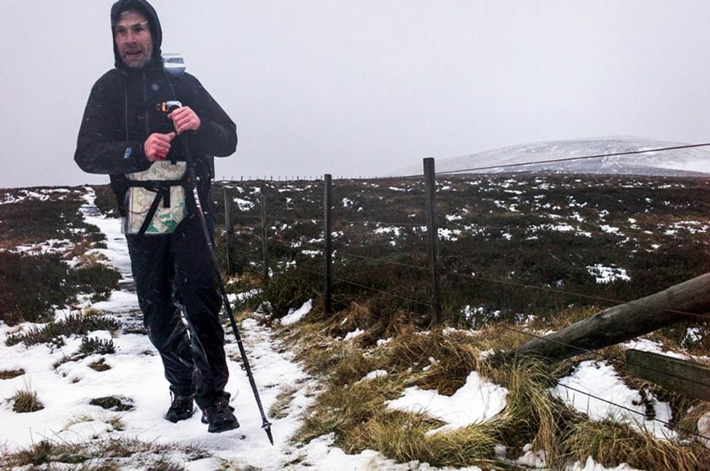 Eoin Keith, seen on a previous The Spine run. Photo: Chris Strickland