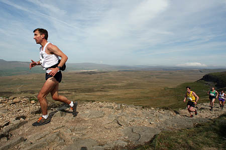 Keeping cool on a big climb is important for fellrunners