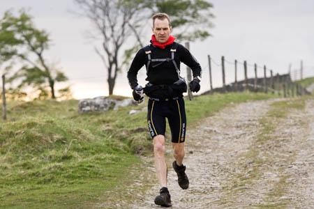 Fellsman winner Duncan Harris on his way to victory