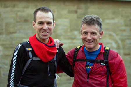 Winner Duncan Harris, left, with second-place man Mark Hartell