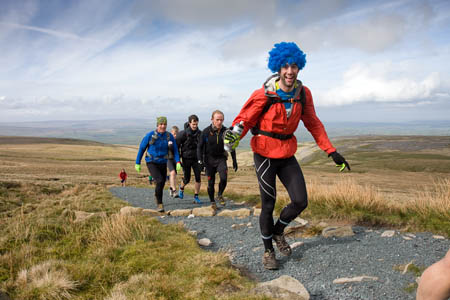 No blues for this runner on the climb to Ingleborough