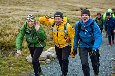 Earlier good spirits would disappear as participants faced relentless freezing winds