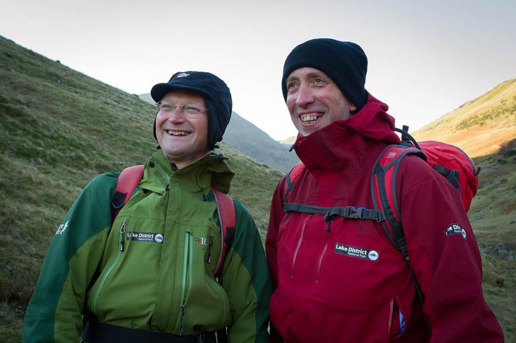 The Lake District's felltop assessors Jon Bennett, left, and Graham Uney