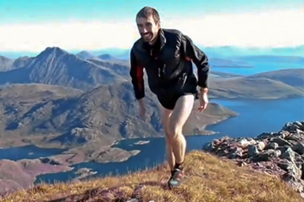 Finlay Wild during his record-breaking Cuillin run in 2013. Photo: Roger Wild