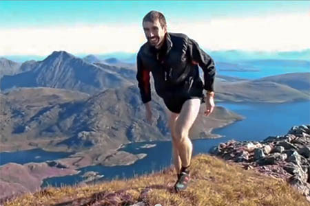 Finlay Wild sets off on his record breaking Cuillin traverse. Photo: Roger Wild