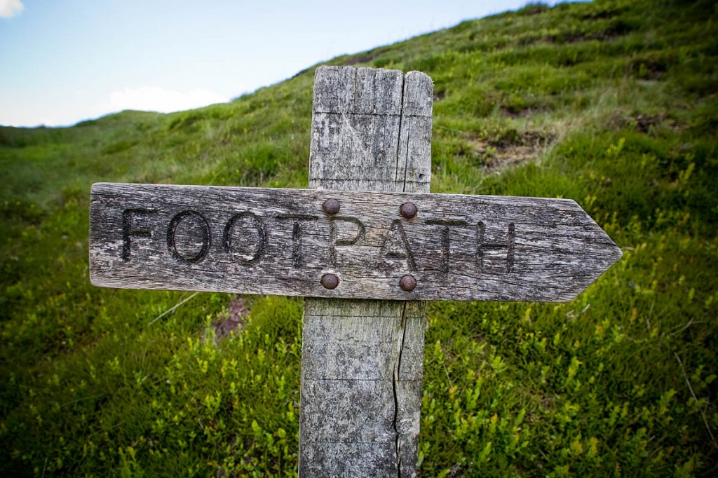 Many footpaths presented problems for walkers. Photo: Bob Smith/grough