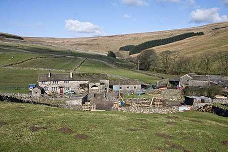 Foxup, starting point for the walk at the head of Littondale
