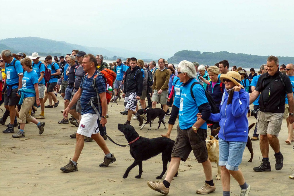Walkers take to the sands of Morecambe Bay during the event
