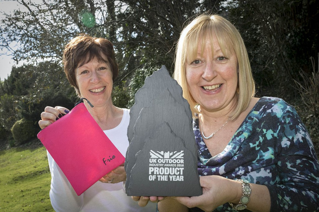 Frio's business co-ordinator Karen Munn, left, and design and development manager Helen Wolsey celebrate the company's award