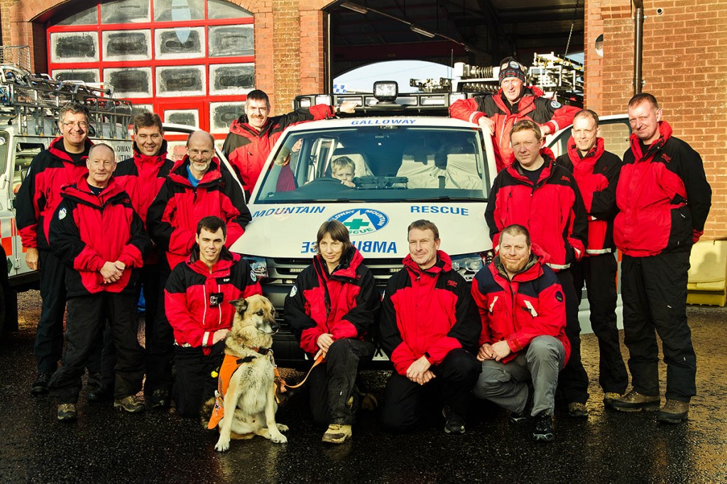 Galloway Mountain Rescue Team members with the new vehicle. Photo: Mike Kneeshaw