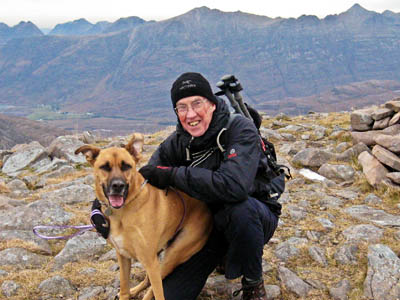 Gerry training, with friend, in October on Maol Chean-dearg