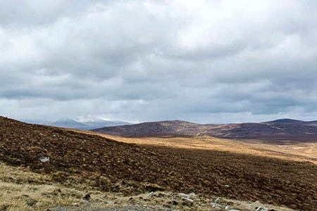 The Glencassley site and Ben More Assynt