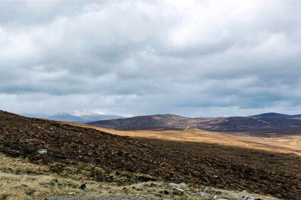 The proposed site of the Glencassley windfarm