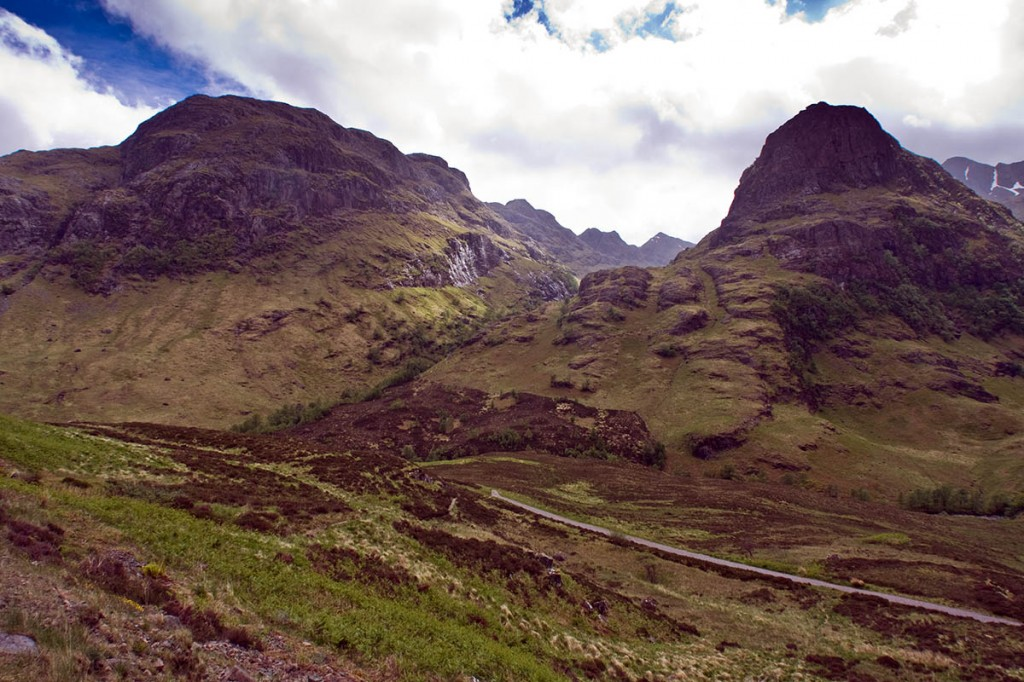 A major search took place on the Glen Coe mountains