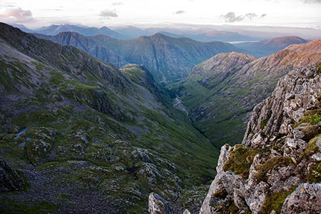 The walkers got lost at dusk in the Three Sisters area of Glencoe