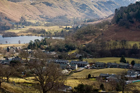 The injured woman was walking back to Glenridding when the fall occurred