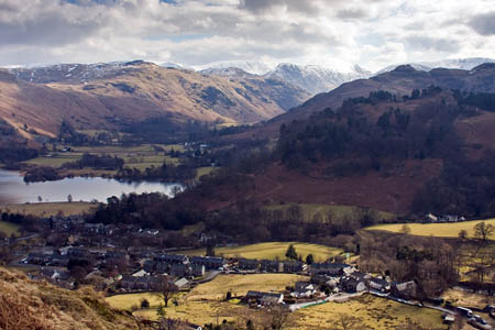 The woman was injured above Glenridding Beck, near the Lake District village bearing its name