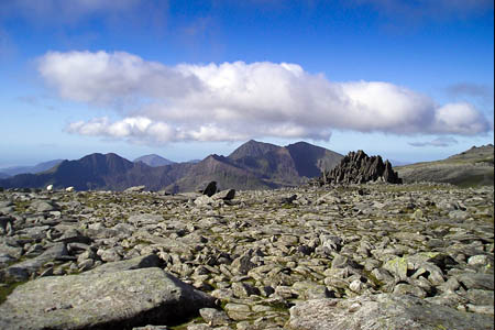 The summit plateau of Glyder Fach. Photo: Chris Andrews CC-BY-SA-2.0