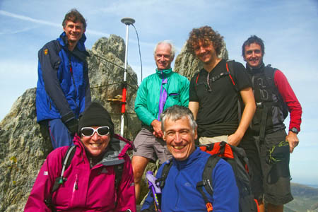 The survey party on the summit of Glyder Fawr